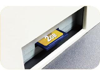 JET-M1200R 軽減税率対応レジスターはSDカードにデータ保存が可能