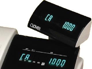 JET-M1200R 軽減税率対応レジスターのディスプレイとカスタマ表示機