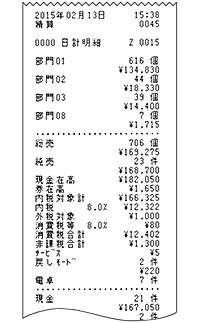 SE-S30 清算レポート印字例